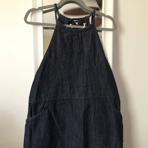 Free People denim apron dress